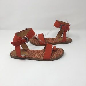 Anthropologie Shoes - Anthropologie Naya Red Sasha Toe Loop Sandals 9.5